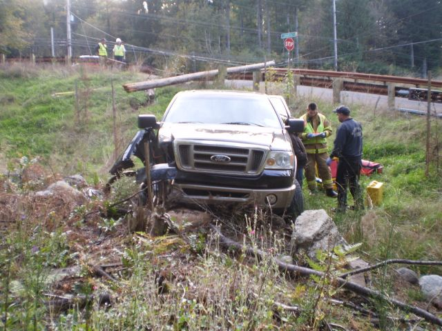 Single Vehicle Accident Highway 26 Near Welches Oregon