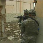 Oregon soldiers inside ruins of Russian factory - by: Tim King
