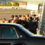 Obama Arriving at the Oregon Air National Guard Base