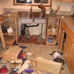 View of Kitchen after Crash