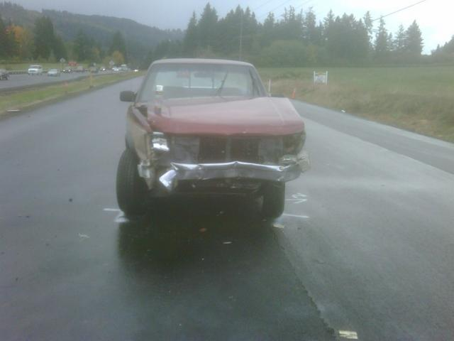 Dodge Pickup Crash Highway 99 near Sherwood