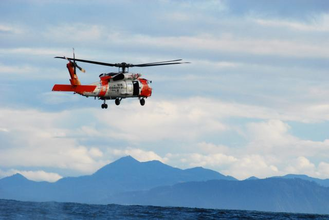 Coast Guard Man Overboard Training