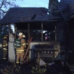 Burned home in Jefferson Oregon November 9th 2010