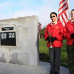 Corey Clemetson and Eriq Thompson Both Boyscouts With Troop 99 in Albany in Front of The Korea War Marker