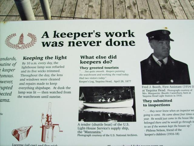 Sign at the Yaquina Lighthouse - by: Kevin Hays