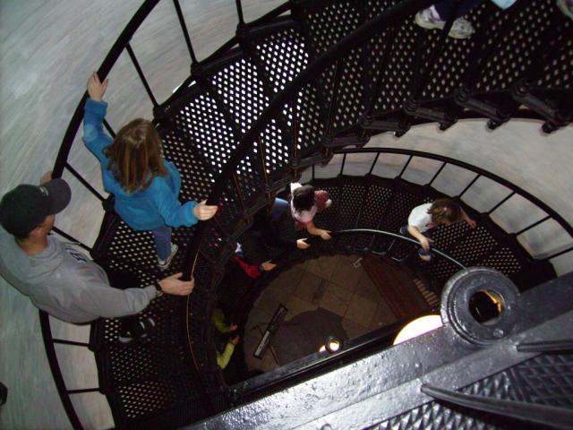 Spiral staircase at Yaquina Lighthouse - by: Kevin Hays
