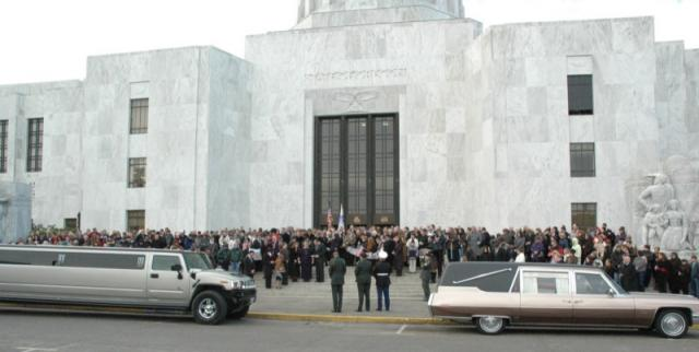Hill service at the State Capitol, February 2nd, 2007.  Photo: iraqwarheroes.org