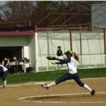 Jenni Bittle throws a strike