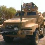 MRAP combat vehicle Balad